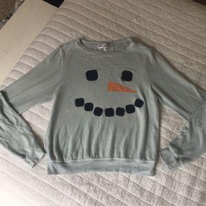 Wildfox Snowman Sweatshirt, Size Large